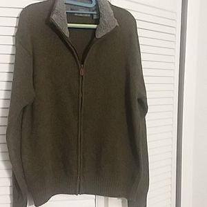 Oscar de la renta zip up sweater